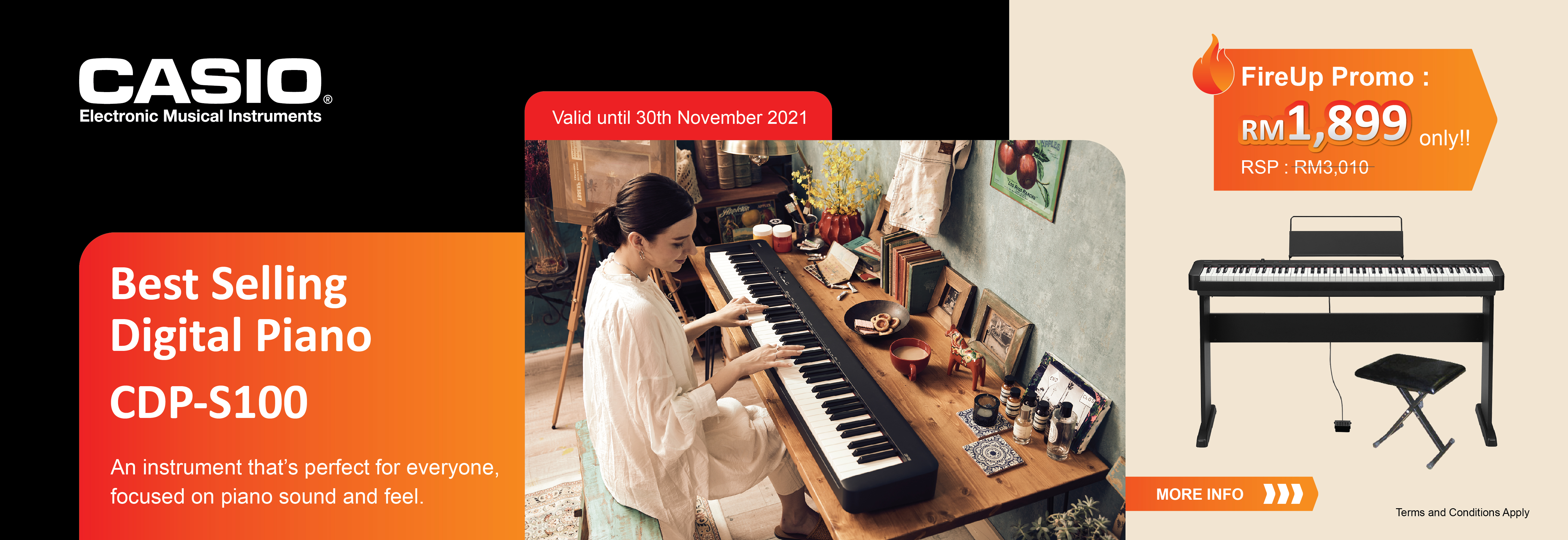 Musical Instruments-CDP-S100 FireUp Promo