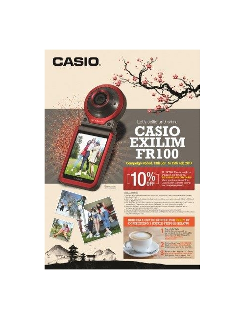 CASIO EXILIM Roadshow-Casio Selfie Corner at Isetan The Japan Store (Lot 10) from 13 Jan to 15 Feb 2017
