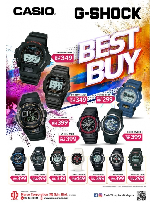 CASIO Timepiece-Best Buy promotion for some of oyr G-SHOCK selections!
