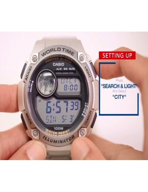 Casio Islamic Prayer Alarm Watch-Casio Islamic Prayer Alarm Watch CPA-100D Setting Guide