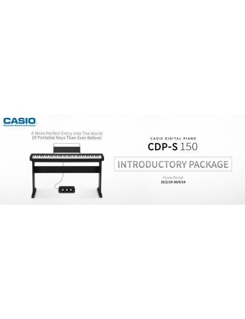 Casio Musical Instruments-CDP-S150 Introductory Package Promotion at RM2,999 (RSP RM3,339) until 30/9/19