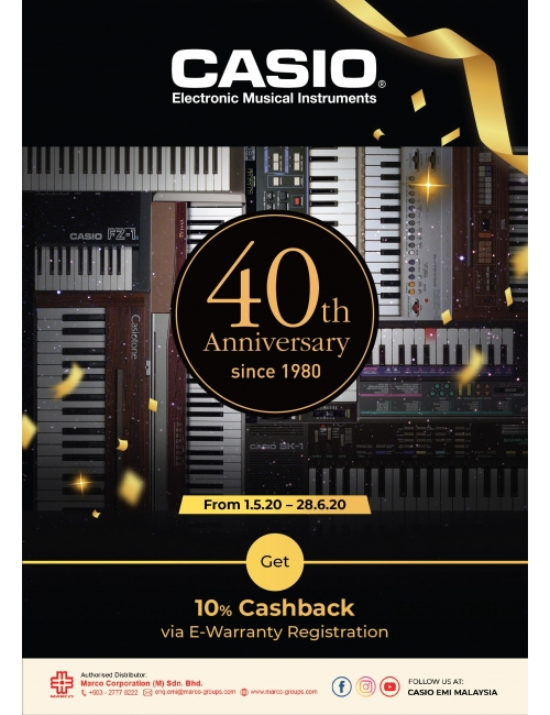 40th Anniversary Promotion-Exclusive selected models promotions and free gifts ➕ 10% cashback via E-warranty registration.