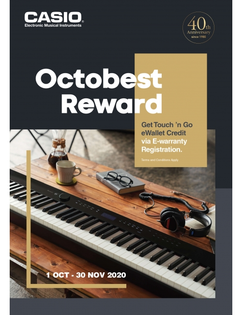 CASIO EMI OCTOBEST REWARD-Get Touch 'n Go eWallet Credit via E-warranty Registration